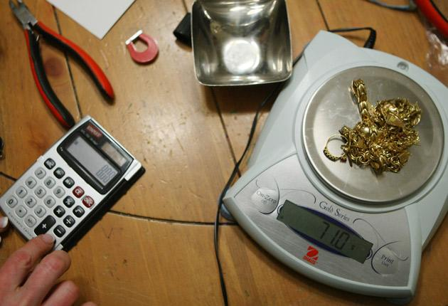 Jewellery is weighed and tested at a US gold party - the bling equivalent of a Tupperware party - that takes place in a hostess's home. Friends and family bring their unwanted gold to sell