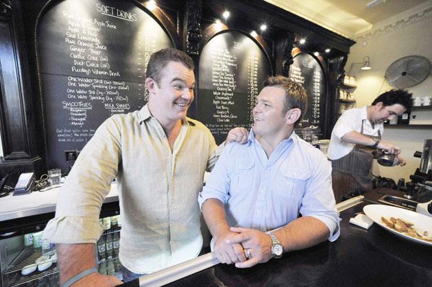 Matt Stevens (left) and Lee Mears in their cafe Jika Jika in Bath