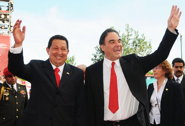 Hugo Chavez and Oliver Stone at Venice