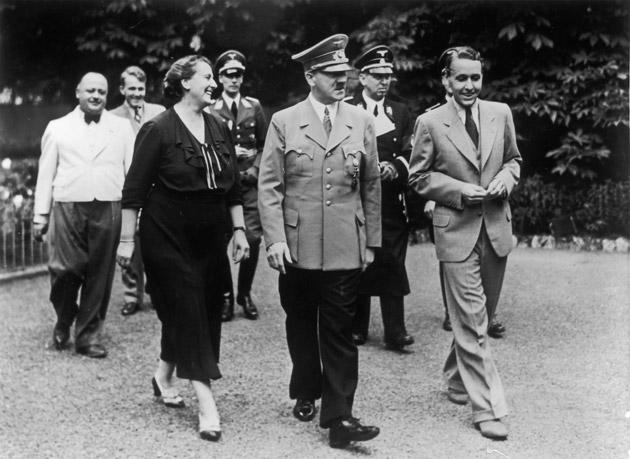 Notorious history: Adolf Hitler with Winifred Wagner in 1938