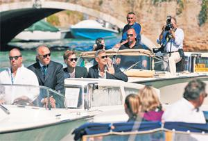 Into the chaos: the stars Ewan McGregor and George Clooney at the 66th Venice Film Festival