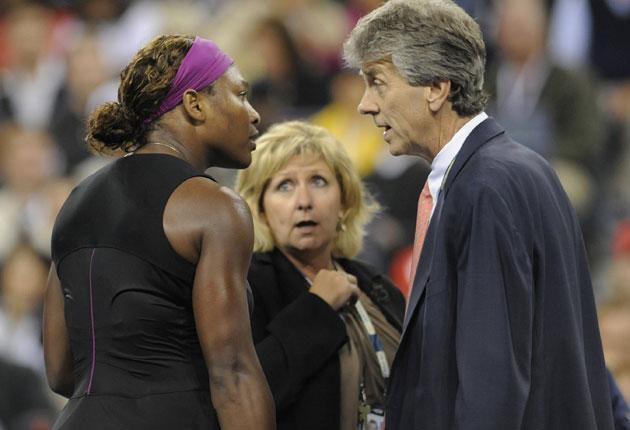 Serena Williams was unrepentant after referee Brian Earley penalised her