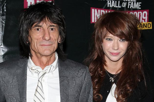 62-year-old Ronnie Wood had a heated row with his Russian girlfriend Ekaterina Ivanova, some 40 years his junior, according to reports.