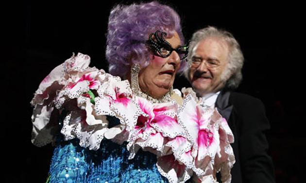 Dame Edna Everage at Last Night of the Poms