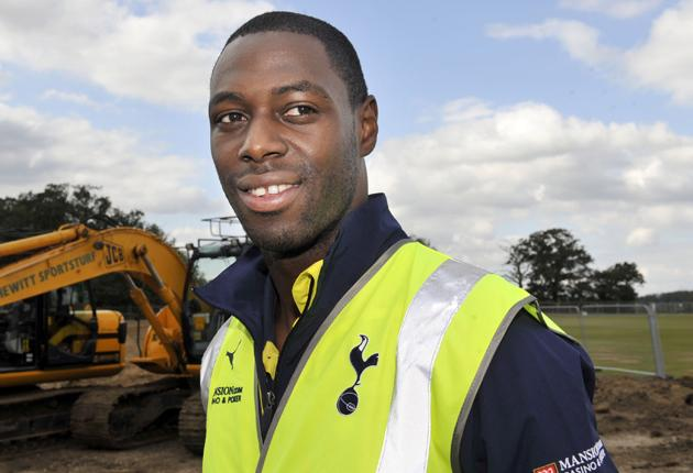 Building him up: reading Paul McGrath's book inspires King (pictured at the site for Spurs' new training centre); 'I've admiration for how he kept playing through his problems. Some of the things he wrote about being injured I can definitely relate to'