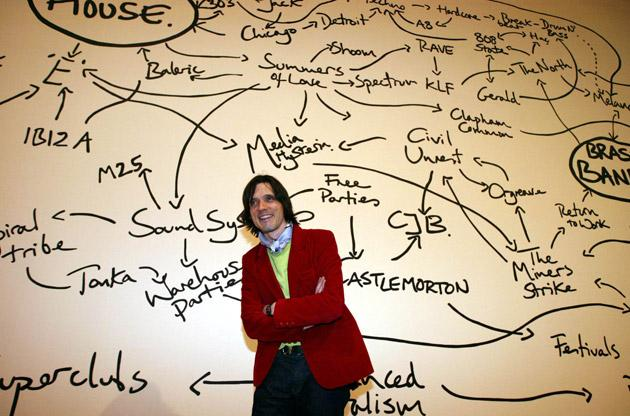 Jeremy Deller with his Turner prize work at the Tate Britain