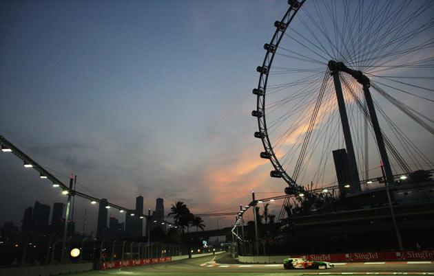 Sutil crashed out at the Singapore Grand Prix