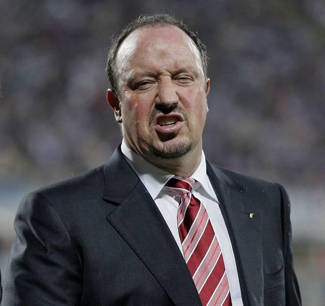 Rafael Benitez shows his frustration in Florence last night