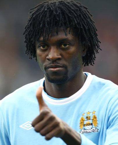 City's Emmanuel Adebayor was fined by the FA with a suspended two-match ban