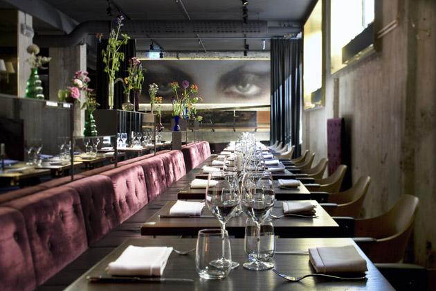 The restaurant has a cosy, underground feel: windows above your head are at street level and the restaurant is candlelit, even at breakfast