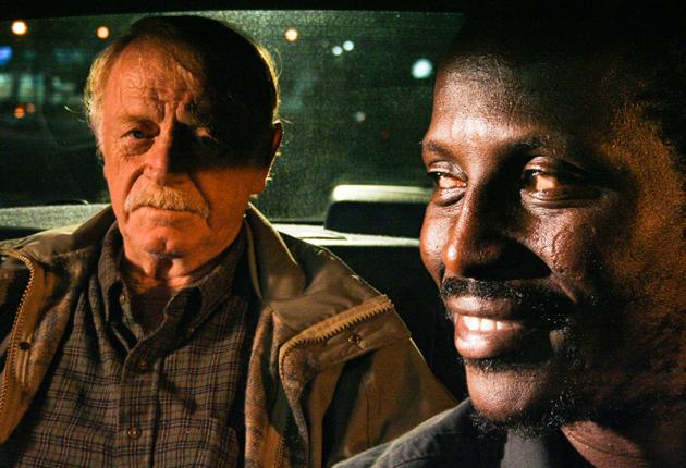 Taxi driver: Red West and Souleymane Sy Savane strike up an unusual friendship in 'Goodbye Solo'