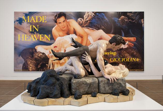 Jeff Koons's Made in Heaven suite, which features 'Dirty - Jeff on Top', is self-advertising at its most basic