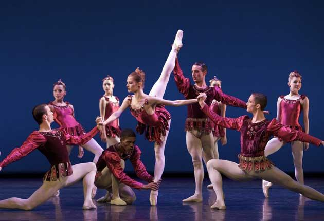 Making a pointe: the Scottish Ballet in Balanchine's jazzy 'Rubies'