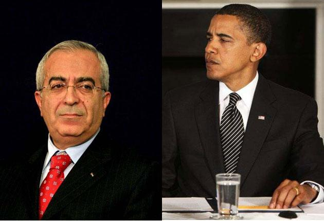 Salaam Fayyad will not bow to pressure from Barack Obama on talks with Israel