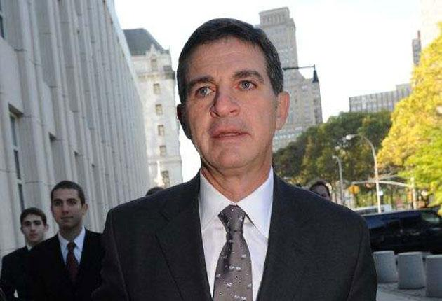 Former Bear Stearns hedge fund manager Ralph Cioffi arrives at court in New York yesterday