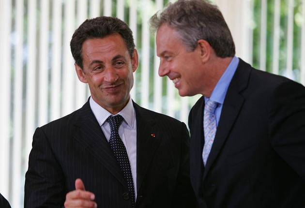 French President Nicolas Sarkozy seems to have changed his mind about Tony Blair as president of Europe