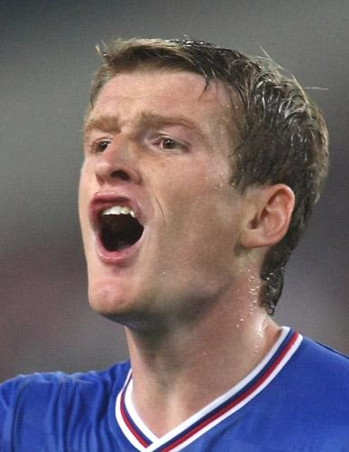 Steve Davis missed from the penalty spot on a torrid night for Rangers at Ibrox