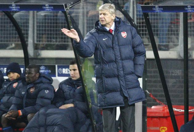 Arsène Wenger was disappointed that Arsenal could not see out victory against AZ Alkmaar on Tuesday night