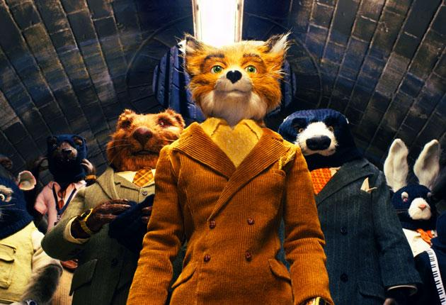 George Clooney lends his voice to the wily Mr Fox, who is given a sharp sartorial makeover by Wes Anderson