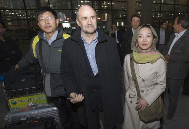 The IAEA nuclear inspectors arriving in Tehran yesterday