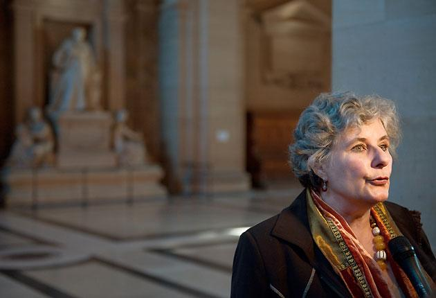 French socialist MP Catherine Picard at the Paris court  for the trial of the Church of Scientology