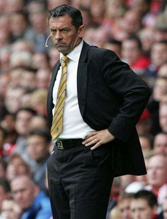 Rumours were rife that Phil Brown was facing the sack