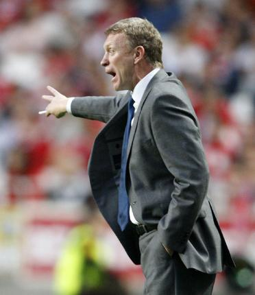 Everton manager David Moyes is trying to put on a brave face after one of his worst months at the club
