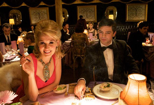 Worldly-wise: Glamourpuss Helen (Rosamund Pike) and Danny (Dominic Cooper) in 'An Education'