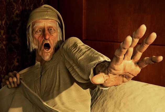 High spirits: Jim Carrey plays Scrooge