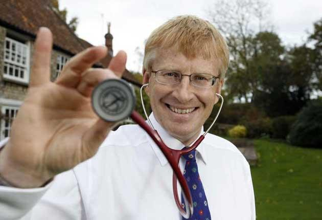 Trust me, I have a stethoscope: Dr Phil Hammond with the doctor's status symbol