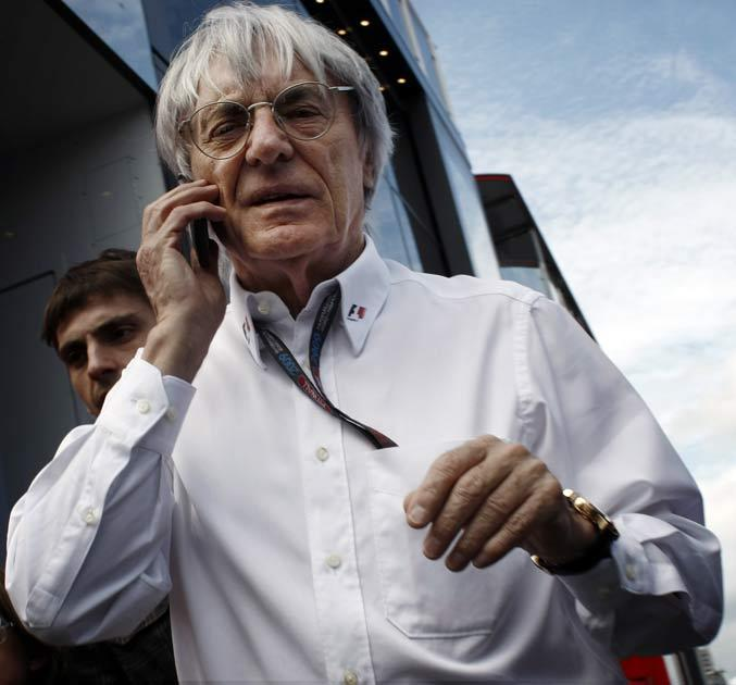 Bernie Ecclestone pictured at Silverstone earlier this year