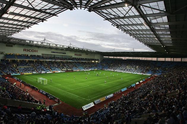 <b>RICOH ARENA, COVENTRY</b><br/> Japanese company Ricoh paid £10m for the naming rights over a ten year period. The venue was used during the 2012 Olympics, but due to strict sponsorshop rules, the Ricoh part of the name was dropped during the Games.