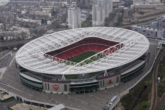 <b>EMIRATES STADIUM, ARSENAL</b><br/> The 60,000 capacity stadium is sometimes referred to as Ashburton Grove by fans.