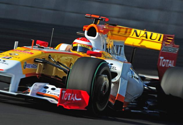Fernando Alonso's Renault during last weekend's Abu Dhabi Grand Prix