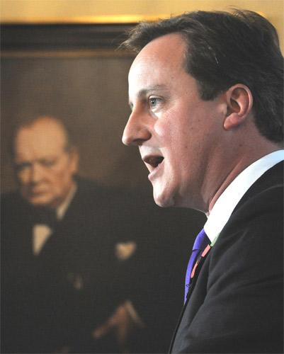David Cameron announces his decision not to press ahead with plans for a EU referendum in Westminster yesterday