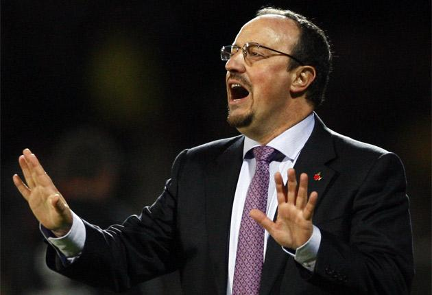 Rafael Benitez finds himself under increased pressure as an early exit from the Champions League looks inevitable