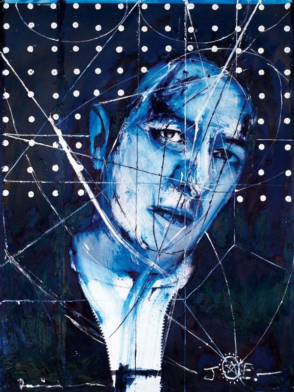 Blue and white riot: Joe Strummer, painted by Damien Hirst