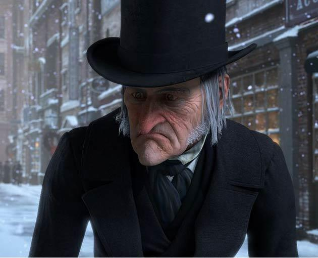 Jim Carrey provides the voice not only for Scrooge but also for the Ghosts of Christmas Past, Present and Future in Robert Zemeckis's version of Dickens's tale