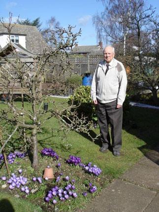 Edgar Lee in his garden this year