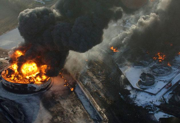 A series of explosions ripped through the Buncefield depot in Hemel Hempstead in December 2005