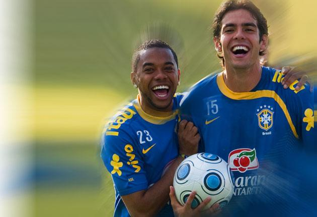 How do Robinho and Kaka  measure up against the heroes of Brazil's golden ages?
