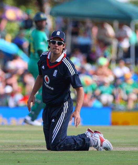 Cook captained England to a big defeat
