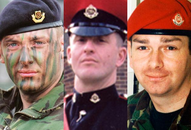 Left to right: Capt Dai Jones, Sgt Maj Colin Wall, Maj Matthew Titchener