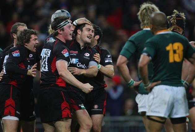 Saracens stunned South Africa at Wembley