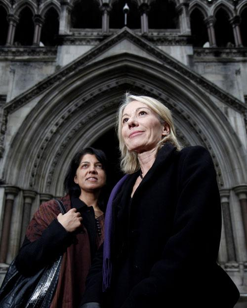 Shahien Taj and Anne-Marie Hutchinson outside the High Court on Friday