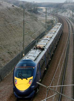 The Ashford to London high-speed train journey takes just 37 minutes