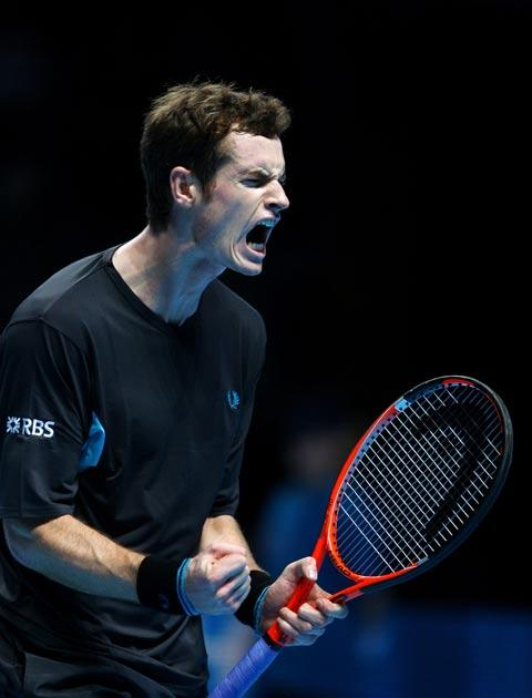 Murray was clearly delighted with victory in the opening match