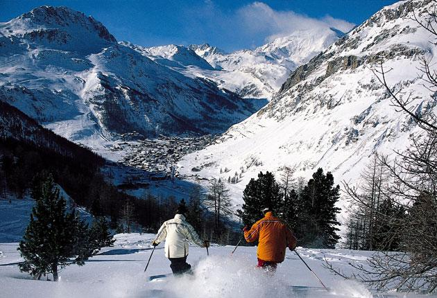 The long run: big resorts such as Val d'Isere provide the high-mileage skiing which the British demand