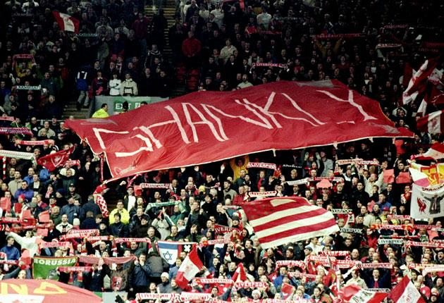 Bill Shankly is hailed by the Anfield fans