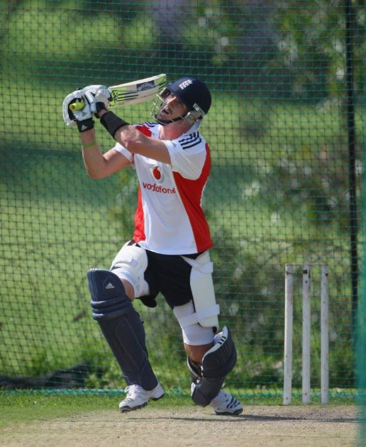 Kevin Pietersen pictured practicing in South Africa